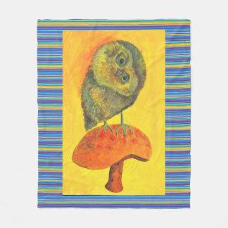 couverture bleue d'ouatine de hibou