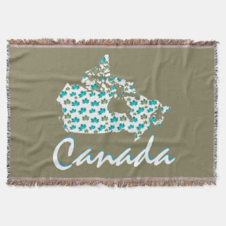 Couverture canadienne de jet du Canada d'érable