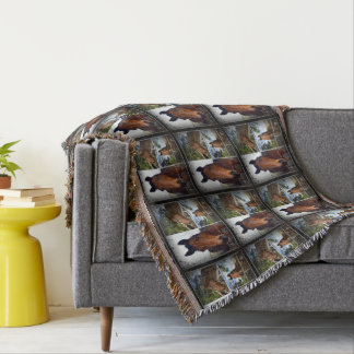 Couverture Cheval, _Photo_Collage, _Throw_Blanket.