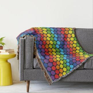 Couverture colorée de jet de motif de cercles