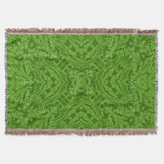 Couverture colorée verte allante de jet