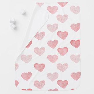 couverture de bébé de coeur