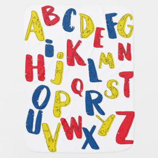 Couverture de bébé de couleur primaire d'alphabet