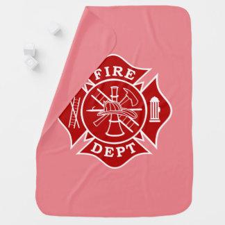 Couverture de bébé de sapeur-pompier