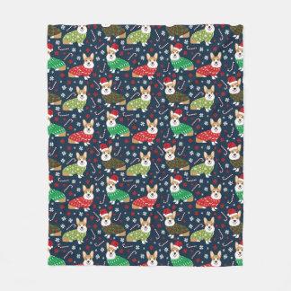 Couverture de chandails de Noël de corgi