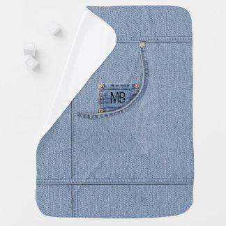 """Couverture de """"jeans"""" avec ou sans les initiales couvertures pour bébé"""