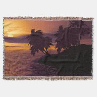 Couverture de jet de lever de soleil