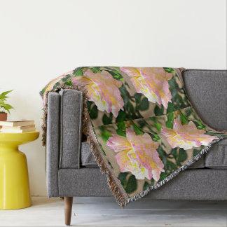 Couverture de jet de rose de beauté