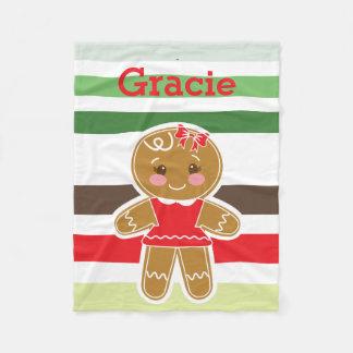 Couverture de Noël de fille de pain d'épice