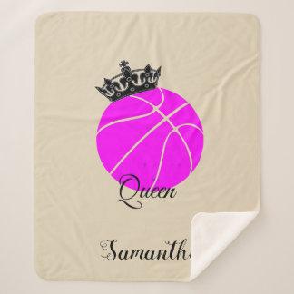 Couverture de sherpa de reine de basket-ball