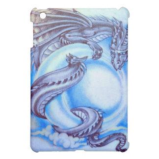 Couverture d'ipad de dragon de lune bleue coque iPad mini