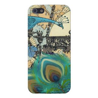 Couverture d'iPhone de fleur de lustre de paon de Étui iPhone 5