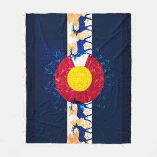 Couverture d'ouatine de scène de nature de drapeau