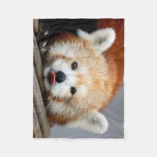 Couverture d'ouatine/panda rouge
