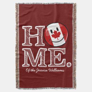 Couverture Drapeau canadien de sourire à la maison doux du