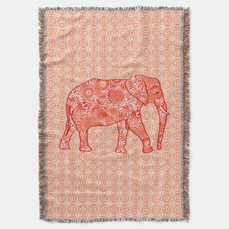 Couverture Éléphant de remous de fractale, orange de corail