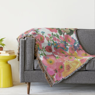couverture florale de jet de fleurs élégantes