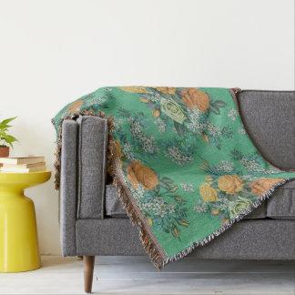 couverture florale de jet de motif de fleur