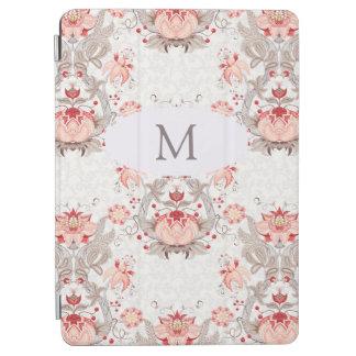 Couverture florale vintage d'iPad de monogramme de Protection iPad Air