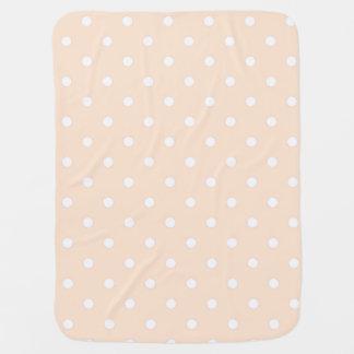 Couverture légère de bébé de point de polka de couverture pour bébé
