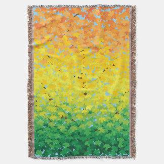 Couverture L'érable coloré de feuillage d'automne part du