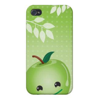 Couverture mignonne de l'iphone 4 de pomme verte coque iPhone 4/4S