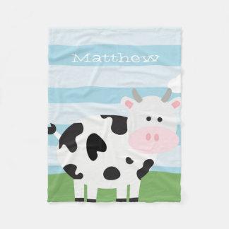 Couverture mignonne d'ouatine de vache à