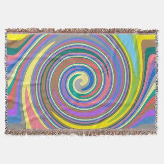 Couverture Motif coloré de remous d'arc-en-ciel