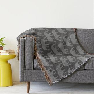 Couverture Motif de silhouettes d'éléphant africain