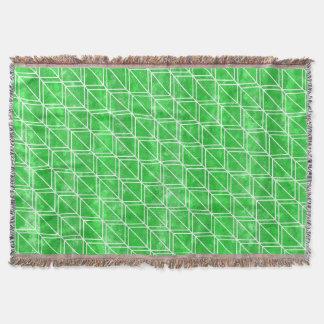 Couverture Motif géométrique d'aquarelle verte à la mode