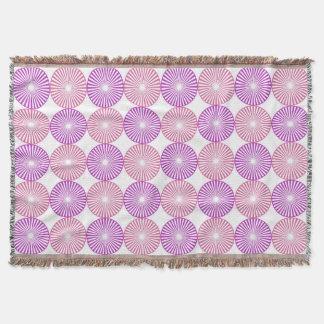 Couverture Motif rose et pourpre de cercles