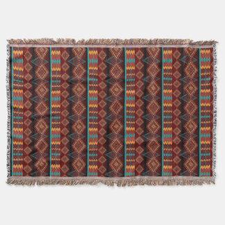 Couverture motif sans couture de Navajo ethnique