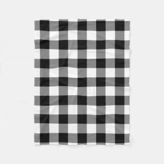 Couverture Polaire Couverture noire et blanche d'ouatine de motif de