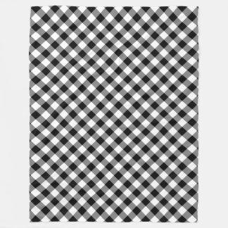 Couverture Polaire Couverture noire et blanche d'ouatine de plaid de