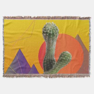 Couverture orange, rose, pourpre de jet de cactus