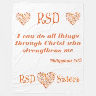 Couverture Polaire 4h13 de Philippiens de vers de bible de coeurs de