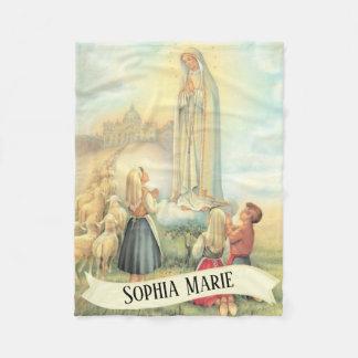 Couverture Polaire A personnalisé notre Madame de Fatima