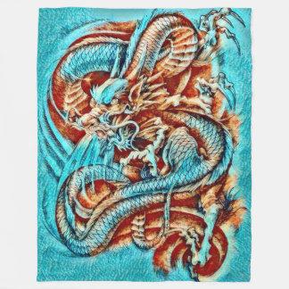 Couverture Polaire Acrylique chinois de dragon d'empereur