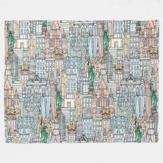 Couverture Polaire Aquarelle de New York