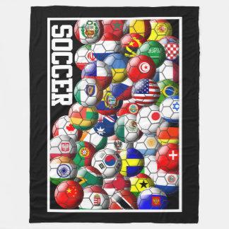 Couverture Polaire Ballons de football du monde
