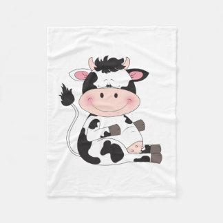 Couverture Polaire Bande dessinée mignonne de vache à bébé