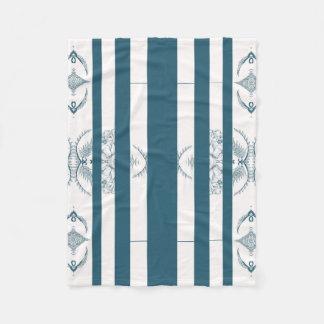 Couverture Polaire bleu blanc