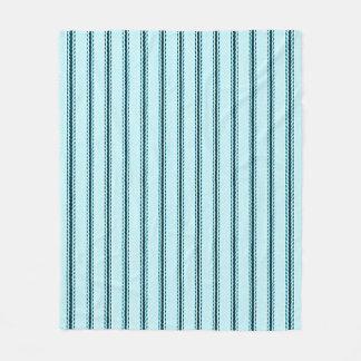 """Couverture Polaire Bleu de coutil de Med-Coussin """"de conceptions"""