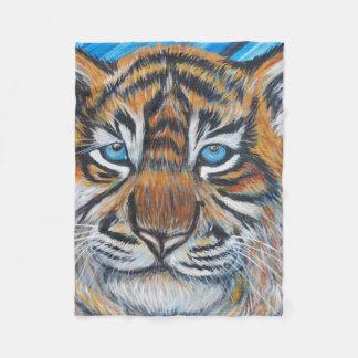 Couverture Polaire Bleu de tigre