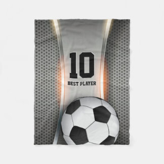 Couverture Polaire Boule du football du football   de Personalizable
