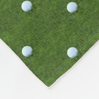 Couverture Polaire Boules de golf décorées d'un monogramme sur la