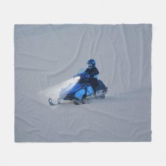 Couverture Polaire Cadeau de sports d'hiver de Neige-mobiler