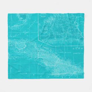 Couverture Polaire Carte bleue du Cuba