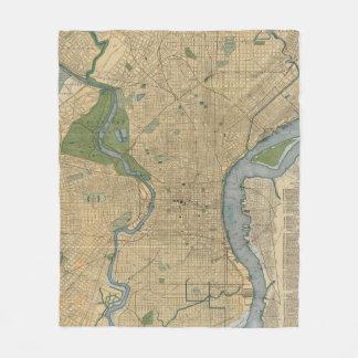 Couverture Polaire Carte vintage de la PA de Philadelphie (1895)