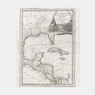 Couverture Polaire Carte vintage du Golfe du Mexique (1798)